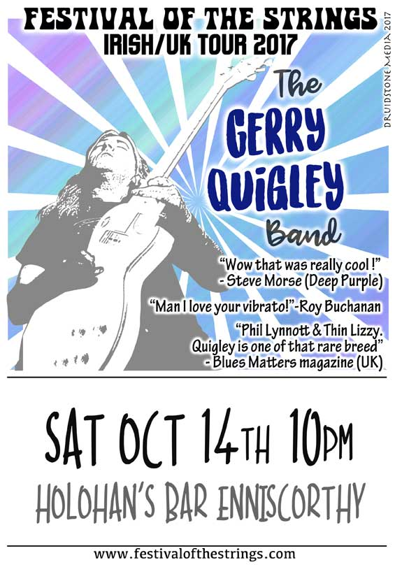 Gerry Quigley Returns to Enniscorthy October 14th!